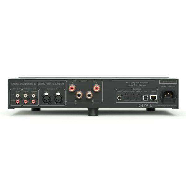 Amplificatore integrato Hegel H120 connessioni