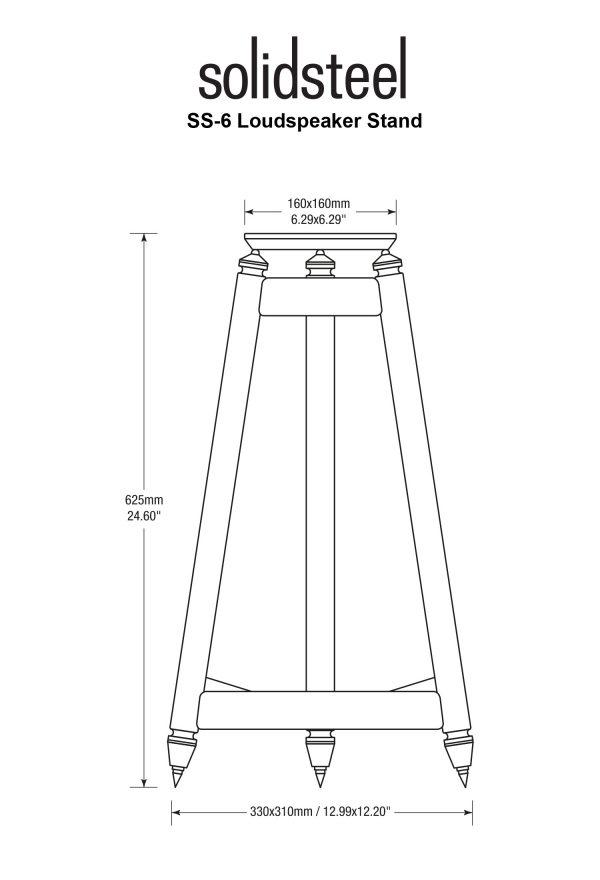 Stands per diffusori Solidsteel SS-6 dimensioni
