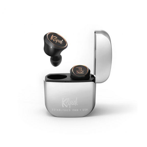 Auricolari wireless Klipsch T5 true silver ricarica