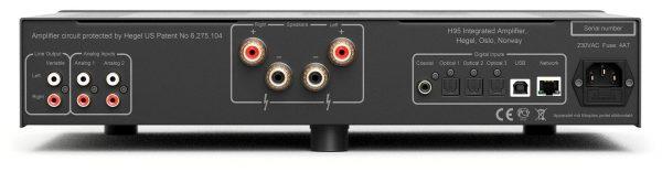 Amplificatore stereo Hegel H95 connessioni