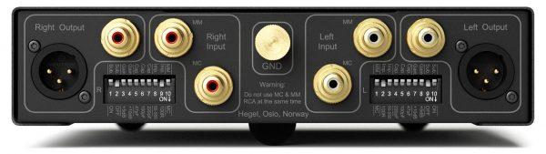 Pre amplificatore phono Hegel V10 connessioni